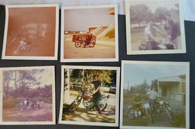 Lot of 6 Vintage Photos 1970s Honda Motorcycles 908020