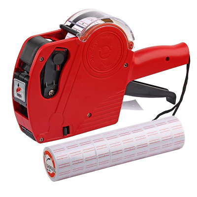 MX5500 EOS Red 8 Digits Pricing Gun Kit with 7,000 Labels & Spare Ink