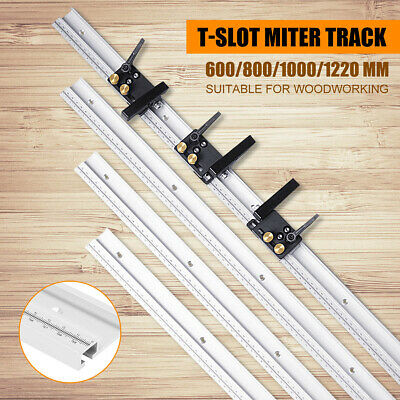 600/800/1000/1220mm Woodworking Chute T-Slot Track Limiter Miter Track Stop