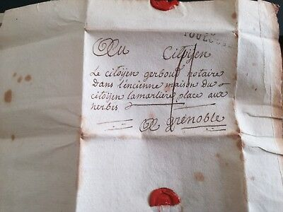 S620. Lettre Ancienne. 20 Pluviose An 2. Toulouse a Grenoble