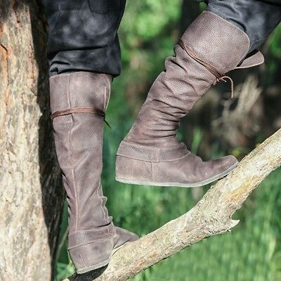 10849af4bb Ladies Fashion Lace Up Suede Hidden Wedge Heels Round Toe Knee High Riding  Boots
