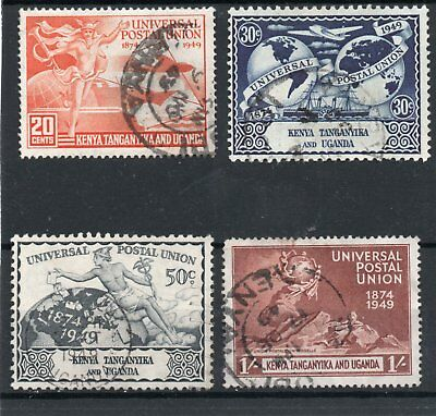K.U.T. GV1 1949 Universal Postal Union set sg 159-62 Used