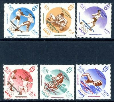 Libanon MiNr. 778-83 postfrisch/ MNH Olympia (Oly827