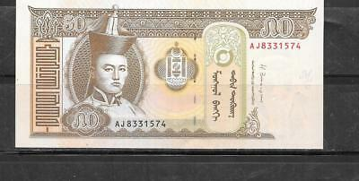 Mongolia 2013 Uncirculated New 50 Tugrik Currency Banknote Bill Note Paper Money