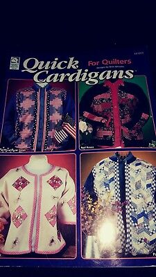 Quick Cardigans for Quilters Pattern Booklet by Beth Wheeler 8 Cardigans