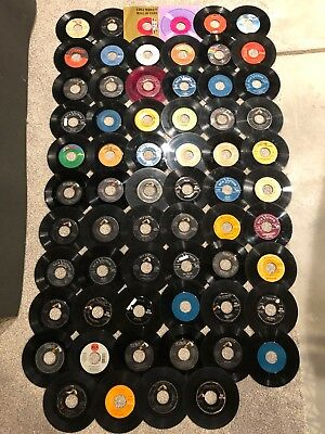 "COLLECTION LOT OF 64 7"" 45s - POP ROCK COUNTRY DISCO JAZZ"