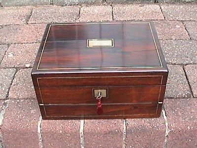Victorian Writing Slope / Jewellery Box C.1840