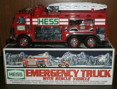 2005 Hess Toy EMERGENCY TRUCK with RESCUE VEHICLE New in Box Collectible