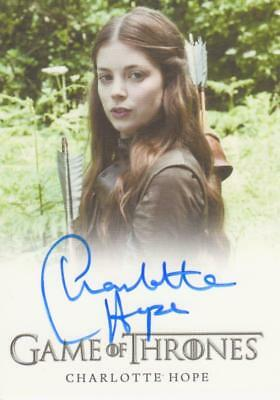 Game of Thrones Full Bleed Style Autograph Card - Charlotte Hope as Myranda