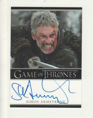 Game of Thrones Bordered Style Autograph Card - Simon Armstrong as Qhorin