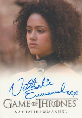 Game of Thrones Full Bleed Style Autograph Card - Nathalie Emmanuel as Missandei