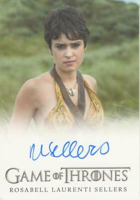 Game of Thrones Full Bleed Style Autograph Card - Rosabell Laurenti Sellers