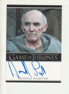 Game of Thrones Bordered Style Autograph Card - Donald Sumpter as Maester Luwin