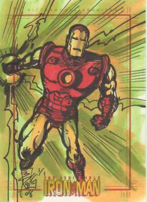 Marvel - Iron Man -  Color Sketch Card by Kong - Iron Man