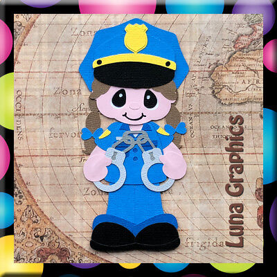 POLICE WOMAN Embellishment card toppers and scrapbooking