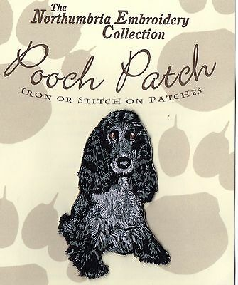 Blue Roan Cocker Spaniel EMBROIDERED Pooch Patch