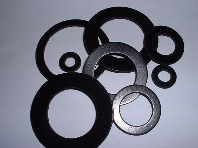2Mm Thick Nitrile Nbr Black Rubber Washer Round Ring Seal 12Mm To 60Mm Od 2 Pack