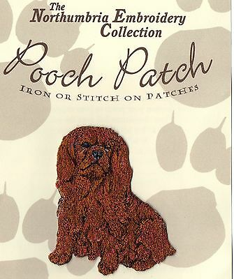 Ruby Cavalier King Charles Spaniel EMBROIDERED Pooch Patch