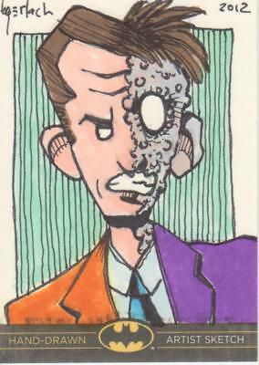 DC Comics Batman: The Legend Color Sketch Card by Gerlach - Two-Face