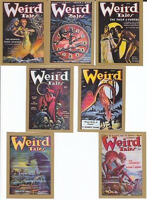 7 WEIRD TALES trading cards from the USA Classic Pulps series (1992) POSTFREE UK