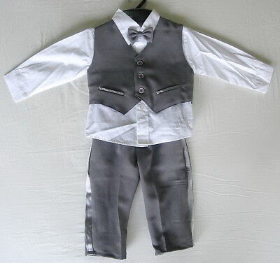 BABY BOY Clothing OUTFIT Dark Grey Special Occasion Suit Wedding Christening
