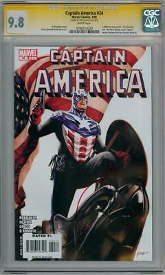 Captain America #34 Cgc 9.8 Signature Series Signed Joe Quesada Marvel Movie