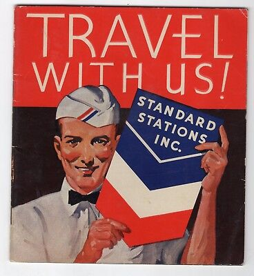 1936 Standard Oil Booklet Trip Out West & Poster Stamp Album