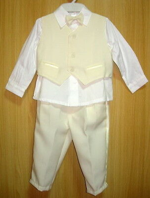 BABY BOY OUTFIT Formal Wear Cream Ivory Suit Christening Clothes Wedding Suit