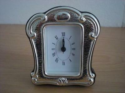 SOLID STERLING SILVER TABLE ALARM CLOCK 4×6 *86 GB new