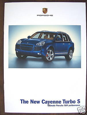 Porsche Official Cayenne Turbo S Edition Sales Brochure 2006 Usa Edition