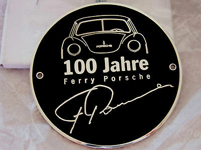 PORSCHE 100th ANNIVERSARY FERRY PORSCHE BIRTH 356 911 GRILL BADGE GIFT BOXED