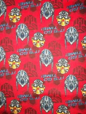 New Hand Made Transformers It's Go Time Flannel Fitted Crib/Toddler Sheet