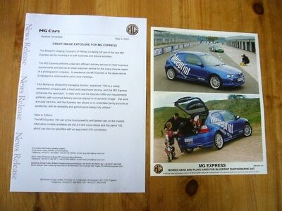 MG ZR Express van press release & photo, 2003, excellent condition