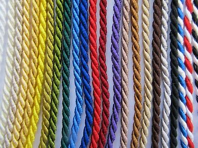 3mm FINE SILKY FURNISHING CORD Quality Barley Twist Piping Upholstery
