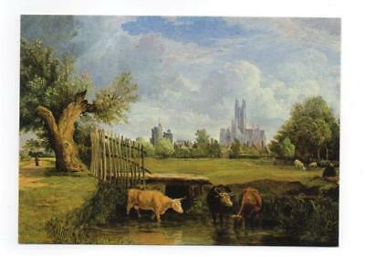 Postcard Alfred Stannard 1806 1889 Canterbury Cathedral From The Stour Meadows