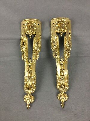 Pair Of Antique Furnitures Ornements Ormolu Bronze Early 20th