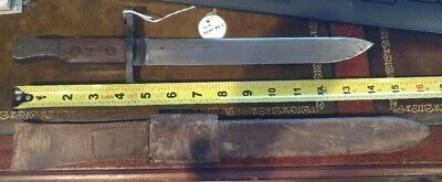 American Ross Mk I Bayonet with Leather Scabbard & Frog US Marked 1 of 20,000