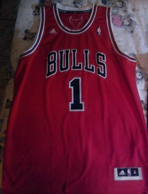 6c826af48 NWT Derrick Rose Chicago Bulls Red Road Swingman Size XL Adidas Adult Men  Jersey