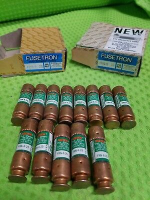 Lot of 13 Fusetron FRN-R-25 Dual Element Time Delay Fuse 25A 250VAC