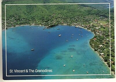 A Postcard of St. Vincent & The Grenadines. West Indies. Admiralty Bay, Bequia.