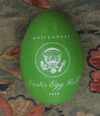 Trump White House 2018 Easter Green Egg President Eagle Seal Signature Donald