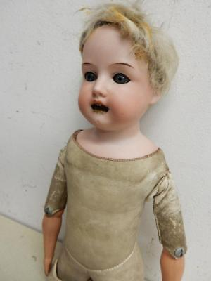 Really Old Doll Armand Marseille  Leather Body