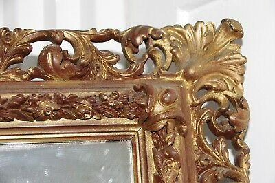 Antique Mirror -Wood with Plaster Mould Frame-possibly Pre-Victorian