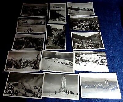Lot Of 14 1930-50 Photo Postcards Of Germany Feldberg,lenzkirch And Others