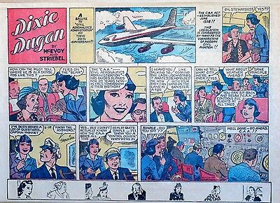 Dixie Dugan by McEvoy & Striebel - lot of 8 half-page Sunday comics - early 1958