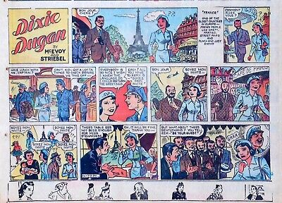 Dixie Dugan by McEvoy & Striebel - lot of 12 half-page Sunday comics middle 1958