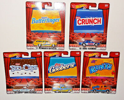Hot Wheels 2018 Pop Culture Nestle Movie Snacks Cars Set Of 5 Cars Dbl45-956N