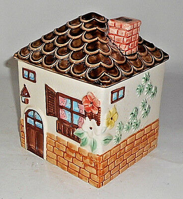 Vintage 1979 ENESCO IMPORTS COTTAGE IN THE SUN House Cookie Jar JAPAN
