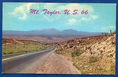 Mt Taylor near Route US 66 Highway New Mexico nm postcard
