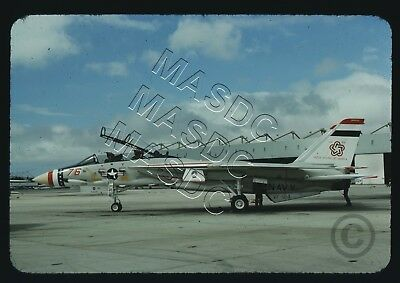 35mm Generic Aircraft Slide - F-14A Tomcat BuNo 159616 NJ76 VF-124 BICEN - 1975